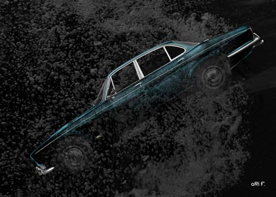 Jaguar XJ Serie 1 in deep diving Poster