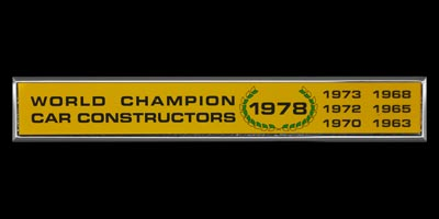 Logo World Champion Car Constructions 1978 for Lotus