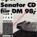 Opel Senator CD für 98,- DM europcar Autovermietung Werbung in DER SPIEGEL 17/1988