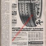 Peer Steel Radial Auto-Reifen ams Heft 11, 25. Mai 1974