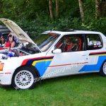 Peugeot 205 im Racing Look beim Oldtimertreffen