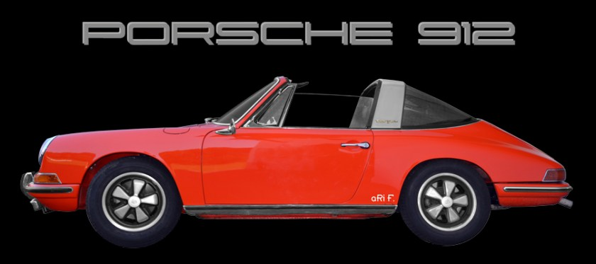 Porsche 912 Targa Poster for sale