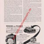 Rex Auto-Politur Reklame von 1953