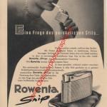 Rowenta snip Feuerzeug Reklame in den 50er Jahren und diser Zeit war in jedem Auto eher 4-5 Aschenbecher als gar keiner wie heute