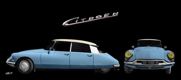 Citroen ID 19 Poster double view in original color