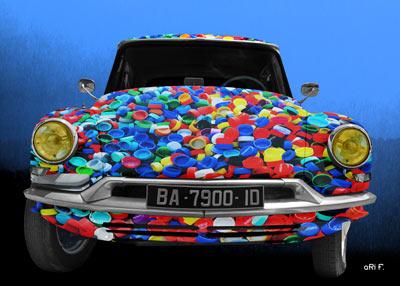 Citroen ID 19 Art Car Poster vue avant