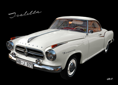 Poster Borgward Isabella Coupé Poster in Originalfarbe