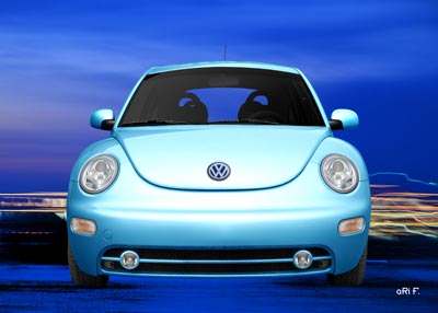 VW New Beetle in lightblue