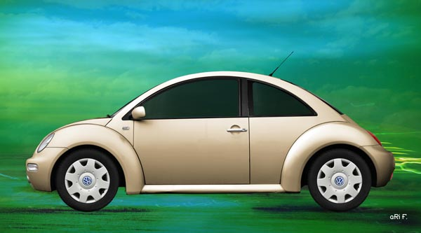 VW New Beetle in antique color