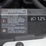 VW New Beetle Aufkleber für spezielle Hinweise im Motorraum