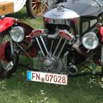 Morgan Threewheeler beim Oldtimertreffen in Langenargen am Bodensee