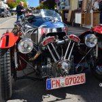Morgan Threewheeler bei der Einfahrt zum Oldtimertreffen in Langenargen am Bodensee