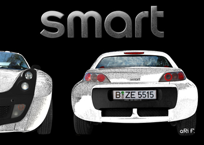 smart Roadster Poster in graphit white