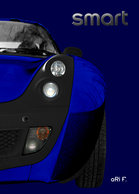 smart Roadster in blue & bleu