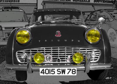 Triumph TR3 Poster in black