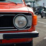 Volvo 144 Frontdetail auf Scheinwerfer