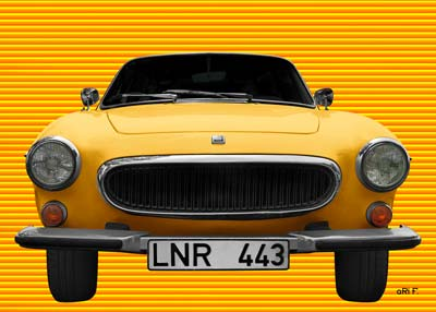 Volvo P1800 Poster in yellow-yellow