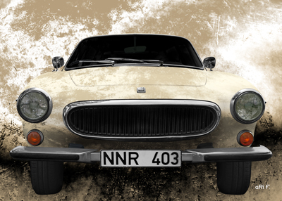 Volvo P1800 Poster in antique chamoise