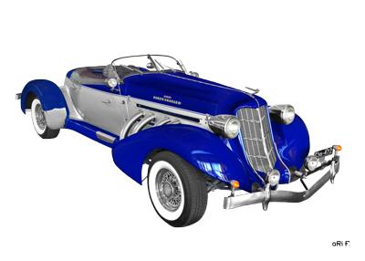 1936 Auburn 852 Supercharged Speedster Poster in original color