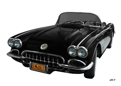 Chevrolet Corvette C1 Poster in original black