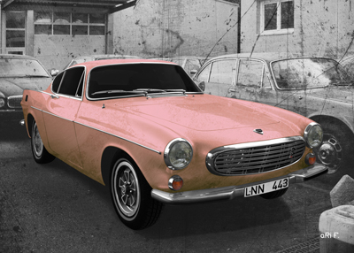 Volvo P1800 in light-pink