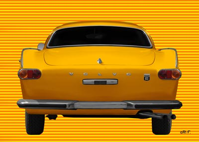 Volvo P1800E in yellow-yellow
