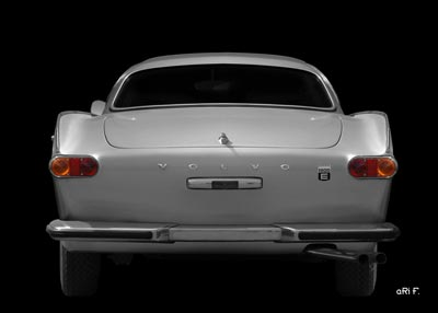 Volvo P1800E rear view