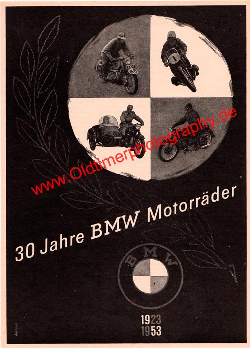 30 Jahre BMW Motorräder 1923-1953