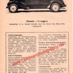 Citroen 11 Légère Datenblatt 1952