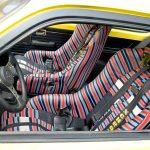 Lexmaul-Schalensitze und Hosenträgergurte