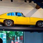 Jaguar E-Type zu sehen im Restaurant der Eilguthalle Lindau