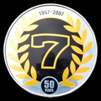 Logo auf Caterham R300 Superlight zum 50-jährigen Jubiläum 1957-2007