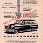 Opel Caravan Werbung 1955