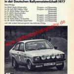 Opel Kadett C GT/E Werbung im September 1978