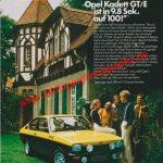 Opel Kadett C GT/E Werbung 70er Jahre