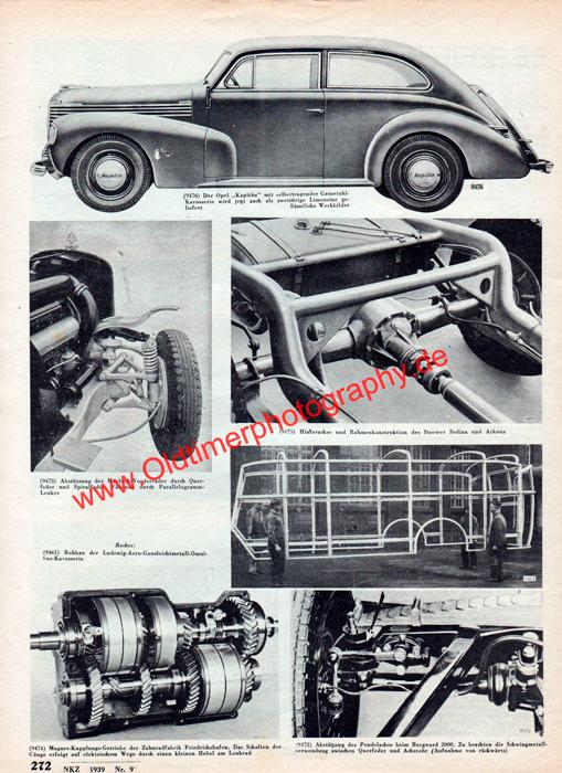 Opel Kapitän in Neue Kraftfahrer Zeitung (NKZ) Ausgabe 9, Seite 272
