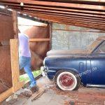 Studebaker Champion Scheunenfund nach mind. 10 Jahren Stillstand dick mit Staub bedeckt