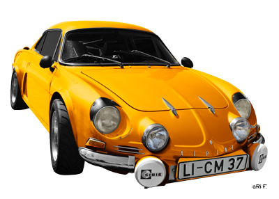 Alpine A110 Berlinette Art Car Poster by aRi F.