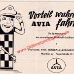 Deutsche AVIA Mineralölgesellschaft Werbung in 1957