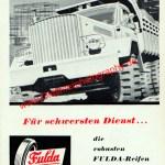 FULDA-Reifen Werbung, Fuldawerke Fulda, Datum unbekannt