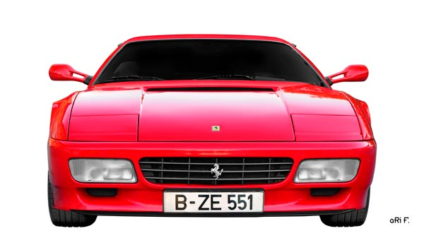 Ferrari Testarossa Poster in red