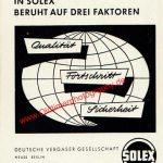 Solex Vergaser Werbung 1956