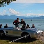 AC Cobra recreation und echter Aluhaut bei der 7. Kressbronn Classics am Bodenseeufer