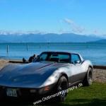 Corvette C3 am Ufer des Bodensees bei allerschönstem Wetter