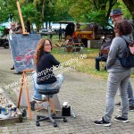 Kunstmalerin Tanja Michel heute im Freien