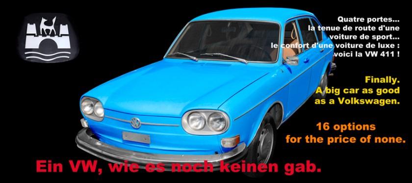 VW 411 Typ 4 (1968–1974) Poster