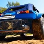 VW Buggy in blau beim Oldtimertreffen am Bodensee
