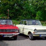 Zwei Opel Kadett mit Baujahr 1963 und 1965 auf dem Weg zur 7. Kressbronn Classics