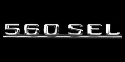 Logo Mercedes-Benz 560 SEL
