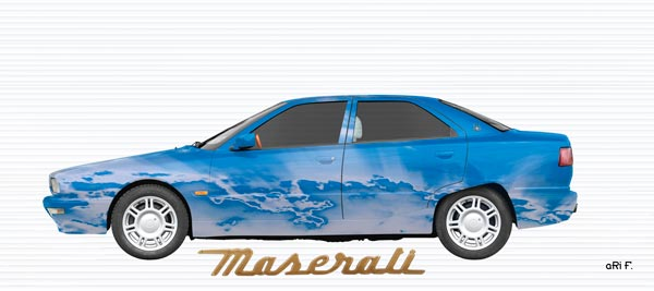 Maserati Quattroporte IV Art Car Poster